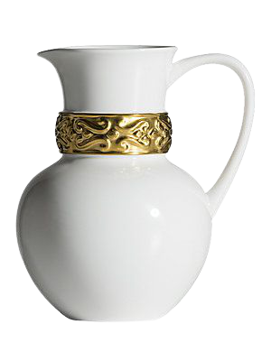 Katy Briscoe Home Bangles 24K Gold Trimmed Bone China Pitcher removebg preview