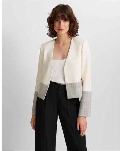 club monaco Cream Multi Cream Multi Textured Jacket