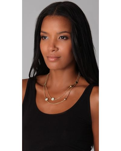 marc by marc jacobs cream classic marc double wrap necklace product 6 2273607 983765249