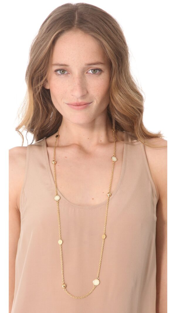 marc by marc jacobs cream double wrap necklace cream beige product 3 992563936 normal