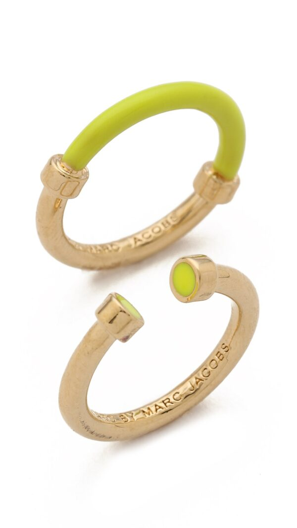 marc by marc jacobs yellow hula hoop ring set black product 1 22631786 1 639182140 normal