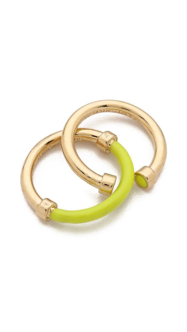 marc by marc jacobs yellow hula hoop ring set black product 1 22631786 3 639182403 normal