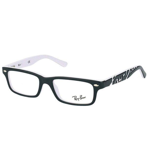 Ray Ban Rectangle RY 1535 3579 Children Black On White Frame Eyeglasses 90196600 f08c 4ac2 ba72