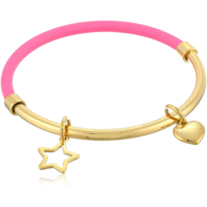 Heart Star Hula Hoop Bangle Bracelet